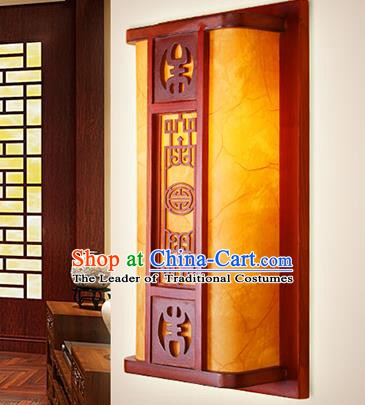China Handmade Parchment Wall Lantern Ancient Classical Wood Lanterns Traditional Lamp
