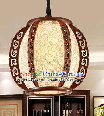 Traditional Chinese Handmade Hanging Lantern Asian Carving Ceiling Lanterns Ancient Lantern