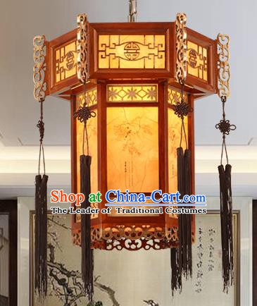 Traditional Chinese Handmade Palace Hanging Lantern Asian Wood Ceiling Lanterns Ancient Lantern