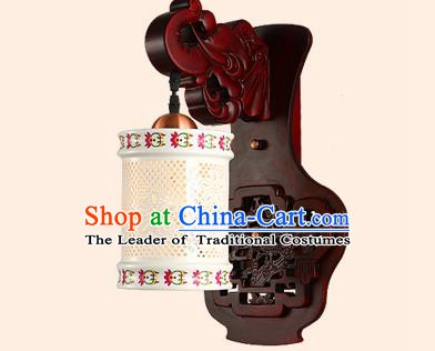China Handmade Ceramics Lantern Ancient Wood Wall Lanterns Traditional Lamp