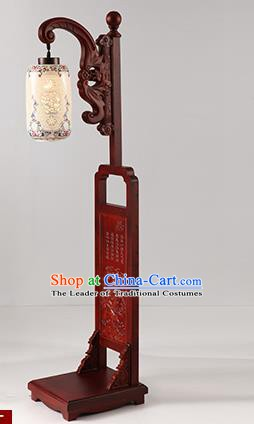 China Handmade Pierced Ceramics Floor Lantern Ancient Wood Lanterns Traditional Lamp