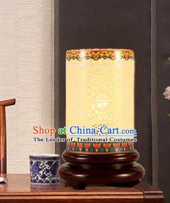 China Handmade Ceramics Desk Lantern Ancient Lanterns Traditional Lamp