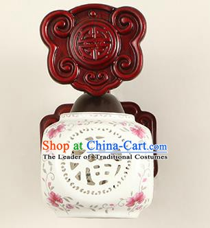 China Handmade Palace Lanterns Ceramics Wall Lantern Ancient Wood Lanterns Traditional Lamp