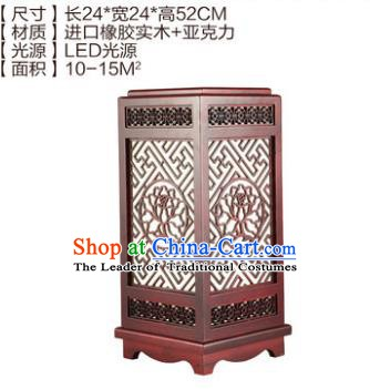 China Handmade Palace Lanterns Desk Lantern Ancient Wood Carving Lanterns Traditional Lamp