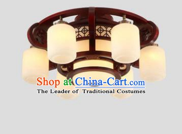 Traditional Chinese Handmade Six-Lights Lantern Wood Lantern Ancient Palace Ceiling Lanterns