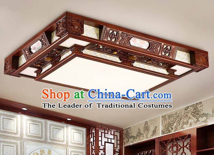 Traditional Chinese Handmade Wood Lantern Printing Palace Lantern Ancient Ceiling Lanterns
