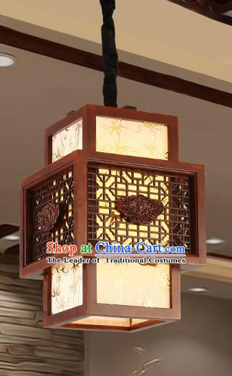 Traditional Chinese Handmade Sheepskin Lantern Wood Palace Lantern Ancient Ceiling Lanterns