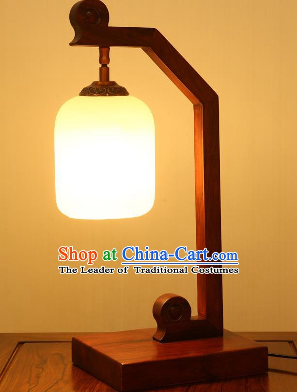 China Handmade Rosewood Carving Lanterns Palace Marble Desk Lantern Ancient Lanterns Traditional Lamp