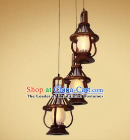 Traditional Chinese Handmade Palace Lantern Three-Lights Lanterns Ancient Hanging Lamp