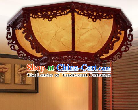 Traditional Chinese Handmade Wood Lantern Palace Ceiling Lanterns Ancient Lamp