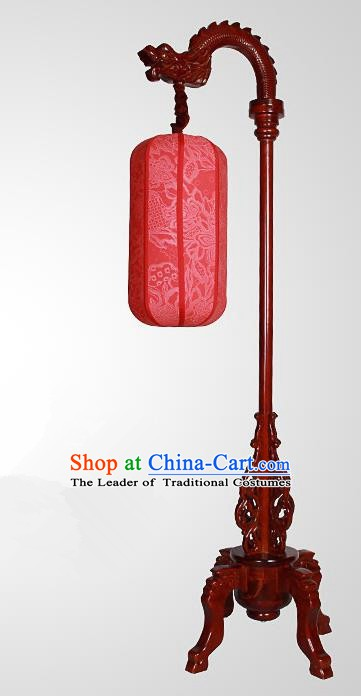 China Handmade Wood Lanterns Red Palace Floor Lantern Ancient Lanterns Traditional Lamp