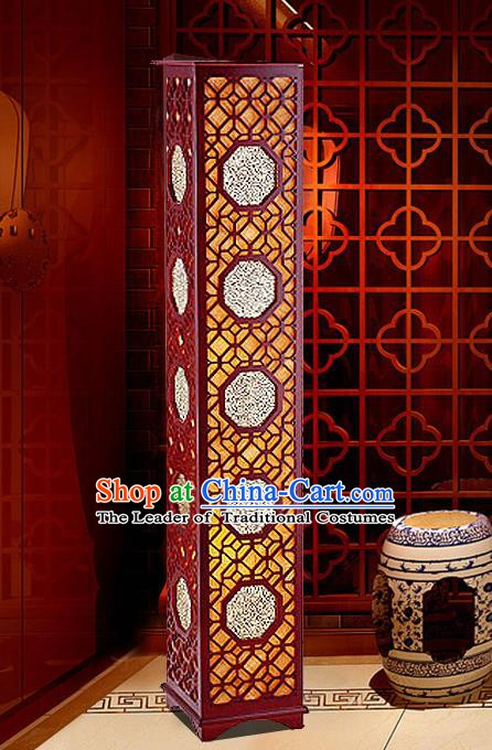 China Handmade Wood Carving Lanterns Palace Floor Lantern Ancient Lanterns Traditional Lamp