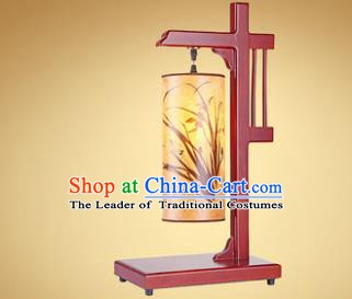 China Handmade Wood Parchment Lanterns Palace Painting Orchid Lantern Ancient Lanterns Traditional Lamp