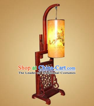China Handmade Wood Lanterns Painting Plum Blossom Palace Desk Lantern Ancient Lanterns Traditional Lamp