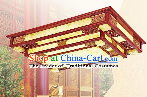Traditional Chinese Wood Palace Lantern Handmade Ceiling Lanterns Ancient Lamp