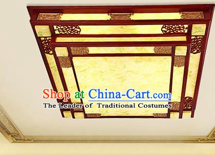 Traditional Chinese Wood Palace Lantern Handmade Squre Ceiling Lanterns Ancient Lamp