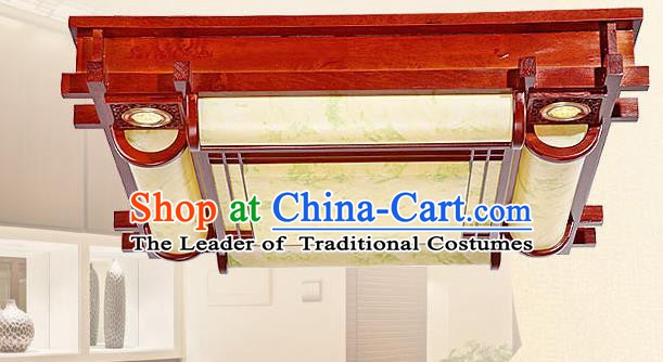 Traditional Chinese Wood Palace Lantern Handmade Painted Ceiling Lanterns Ancient Lamp