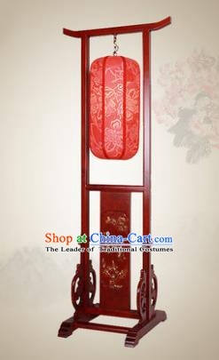 China Handmade Wood Floor Lanterns Red Palace Lantern Ancient Lanterns Traditional Lamp