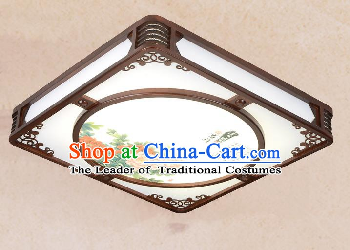 Traditional Chinese Painting Peony Palace Lantern Handmade Ceiling Lanterns Ancient Lamp
