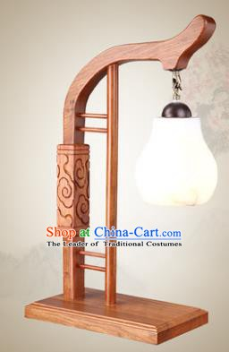 Traditional Chinese Mabiwasa Wood Palace Lantern Handmade Desk Lanterns Ancient Lamp
