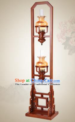 Traditional Chinese Mabiwasa Wood Palace Lantern Handmade Floor Lanterns Ancient Lamp