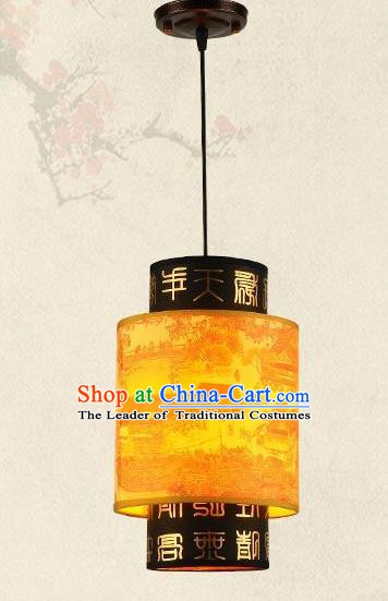 Traditional Chinese New Year Palace Lantern Handmade Painted Hanging Lanterns Ancient Lamp