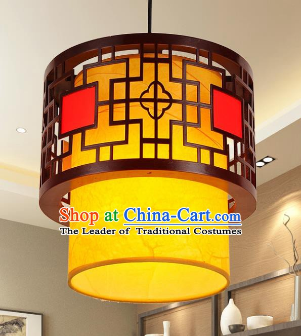 Traditional Chinese New Year Palace Lantern Handmade Wood Hanging Lanterns Ancient Lamp