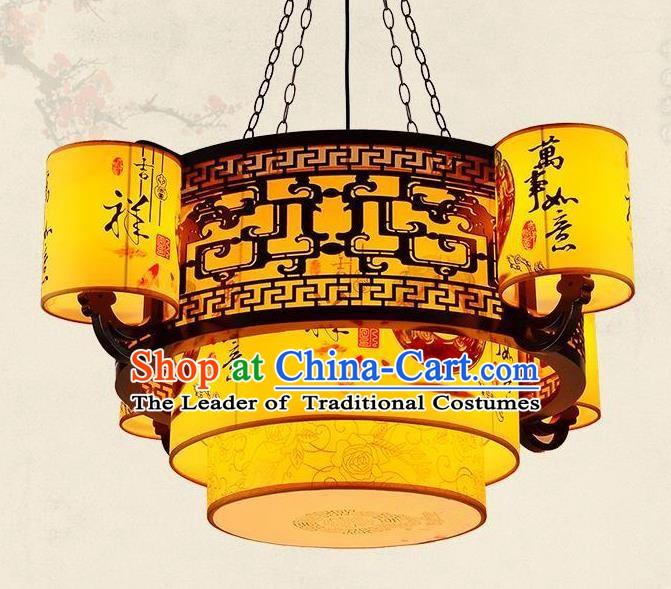 Top Grade Handmade Palace Lanterns Traditional Chinese Lantern Ancient Ceiling Lanterns