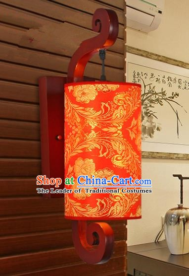 Traditional Chinese Wood Palace Lantern Handmade Red Wall Lanterns Ancient Lamp