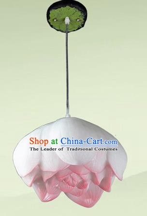 Top Grade Handmade Pink Lotus Hanging Lanterns Traditional Chinese Ceiling Palace Lantern Ancient Lanterns