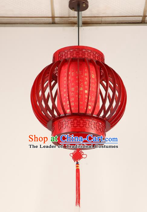 Top Grade Handmade Red Palace Lanterns Traditional Chinese New Year Lantern Ancient Ceiling Lanterns