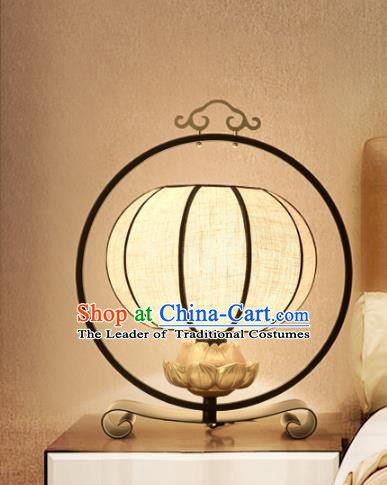Traditional Chinese Palace Lantern Handmade Lotus Desk Lanterns Ancient Lamp