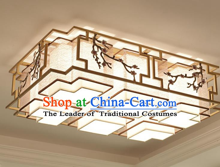 China Handmade Ceiling Lanterns Traditional Chinese Embroidered Six-Lights Palace Lantern Ancient Lanterns