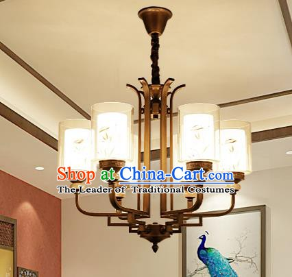 China Handmade Six-Lights Ceiling Lanterns Traditional Chinese Palace Lantern Ancient Lanterns