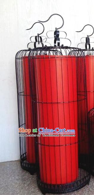 Top Grade Handmade Birdcage Palace Lanterns Traditional Chinese Red Lantern Ancient Ceiling Lanterns