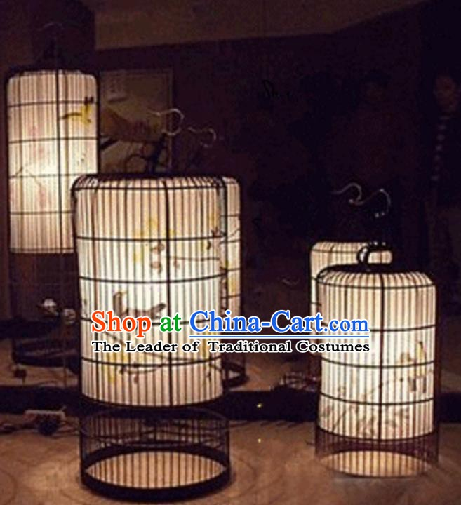 Top Grade Handmade Painted Birdcage Palace Lanterns Traditional Chinese Iron Lantern Ancient Ceiling Lanterns