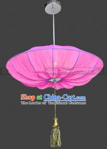 Top Grade Handmade Pink Lotus Leaf Lanterns Traditional Chinese Palace Lantern Ancient Ceiling Lanterns