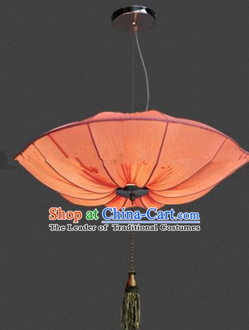 Top Grade Handmade Orange Lotus Leaf Lanterns Traditional Chinese Palace Lantern Ancient Ceiling Lanterns
