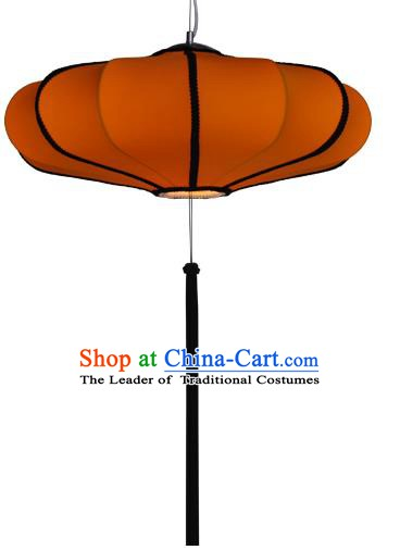 Top Grade Handmade Orange Lanterns Traditional Chinese Palace Lantern Ancient Ceiling Lanterns