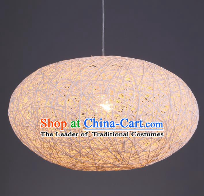 Top Grade Handmade Rattan Hanging Lanterns Traditional Chinese Palace Lantern Ancient Ceiling Lanterns