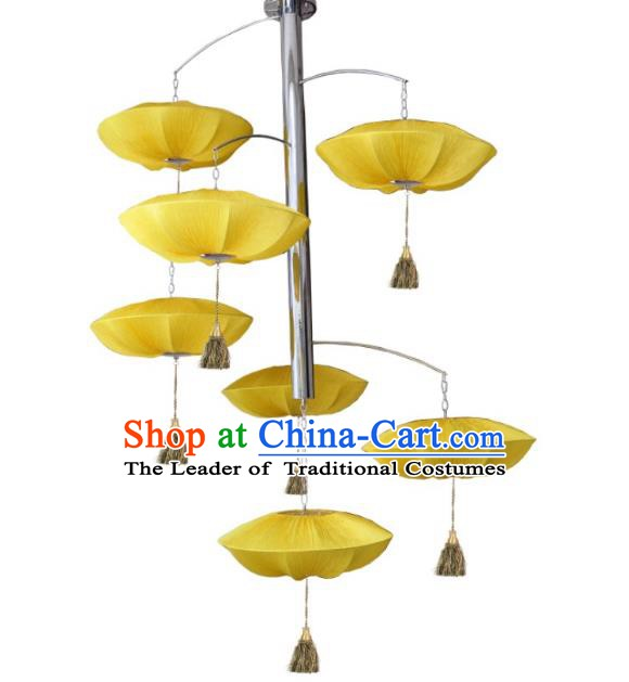 Top Grade Handmade Hanging Seven-Lights Lanterns Traditional Chinese Ceiling Palace Lantern Ancient Lanterns