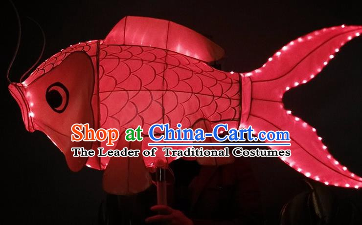 China Handmade Red Fish Lanterns Traditional Chinese New Year Palace Lantern Ancient Lanterns
