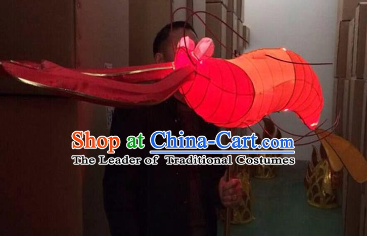 China Handmade Shrimp Lanterns Traditional Chinese New Year Palace Lantern Ancient Lanterns
