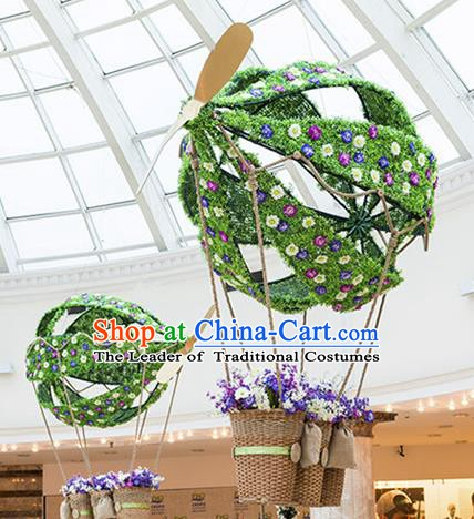 Handmade Stage Performance Lamplight Christmas Decorations LED Lamp Hot Air Balloon Lanterns