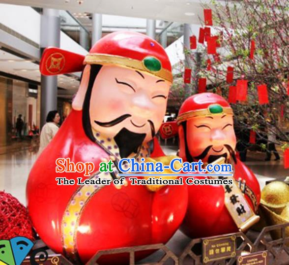 Handmade China New Year Lamplight Decorations LED Lamp God of wealth Lanterns