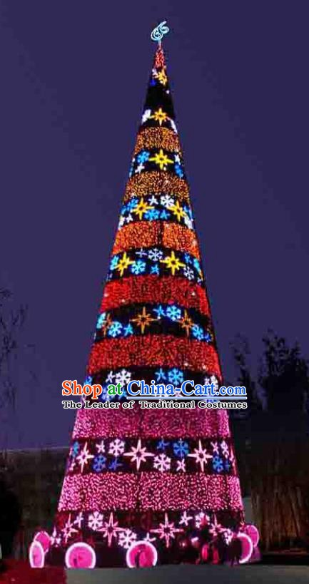 Handmade Christmas Tree Lamplight Decorations LED Lamp Lanterns Bulb Lights