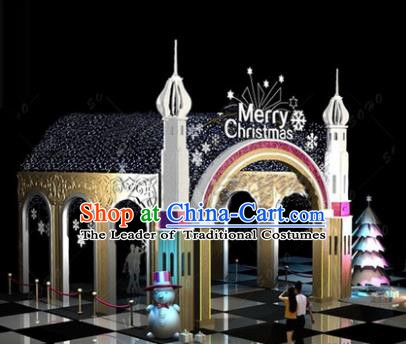 Traditional Christmas Winding Corridor Light Show Decorations Lamps Stage Display Lamplight LED Lanterns