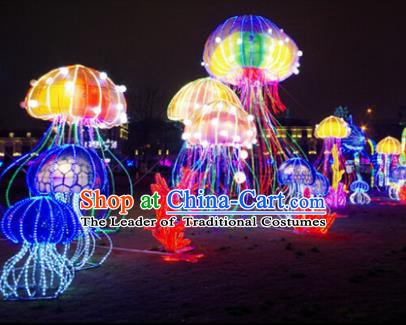 Traditional Christmas Jellyfish Light Show Decorations Lamps Stage Display Lamplight LED Lanterns