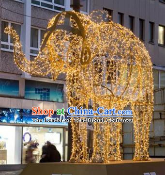 Traditional Christmas Elephant Light Show Decorations Lamps Stage Display Lamplight LED Lanterns