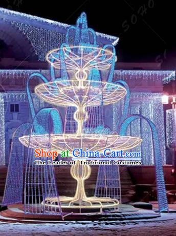 Traditional Christmas Geyser Light Decorations Lamps Stage Display Lamplight LED Lanterns